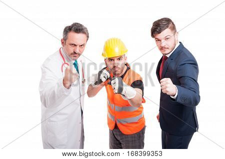 Furious Group Of Men Being Prepared For Battle
