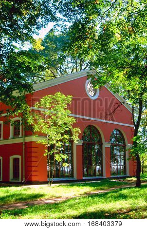 Gomel, Belarus, August 26, 2006: Tower Of Palace Of Rumyantsev-paskevich, Palace And Park Ensemble.