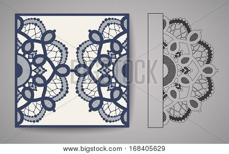 Laser Cut Invitation Card. Laser cutting lace pattern for invitation wedding card.