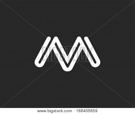 Letter M icon alphabet symbol. Letter M logo icon design vector sign.