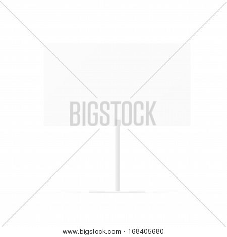 Simple Blank Whiteboard. Empty White Billboard With Space For Information. EPS10 Vector