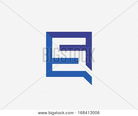 Letter S icon alphabet symbol. Letter S and q logo icon design vector sign.