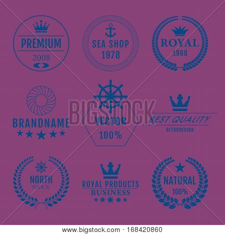 Vector illustration set of logos. Stock vector