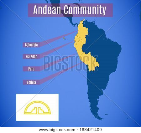 Schematic Map Of The Andean Community.