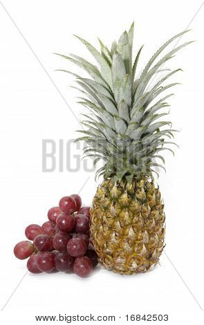 pineapple and grape