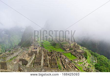 Machu Picchu. Lost city of Inkas in Peru mountains