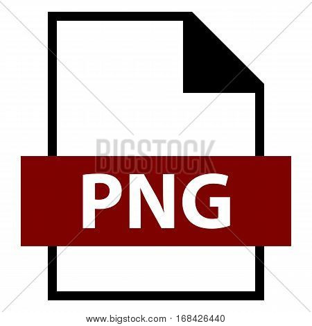 Use it in all your designs. Filename extension icon PNG Portable Network Graphics in flat style. Quick and easy recolorable shape. Vector illustration a graphic element. poster