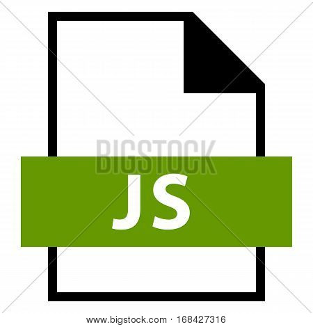 Use it in all your designs. Filename extension icon JS Java Script in flat style. Quick and easy recolorable shape. Vector illustration a graphic element.