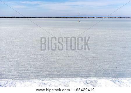 Froze The Lagoon Kalochori In Northern Greece