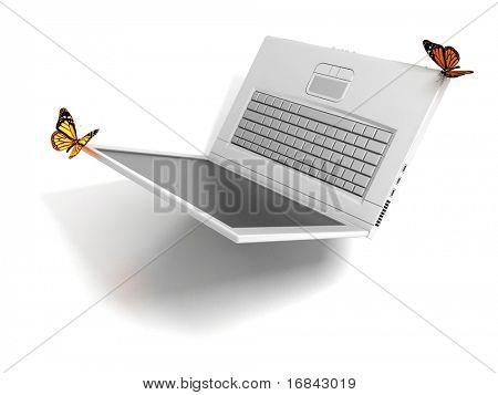 Weightless laptop