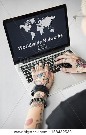 Worldwide Network Globalization Community Concept