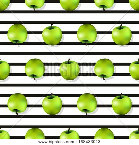 Apple Seamless Pattern Texture In A Realistic Style