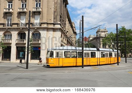 Electric Tram In Hungary