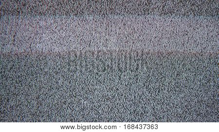 Tv noise interference bad signal screen the television