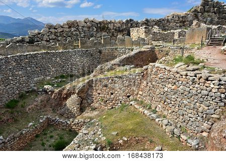 The archaeological sites of Mycenae and Tiryns have been inscribed upon the World Heritage List of UNESCO. Greece. Ruins of the defence stone walls