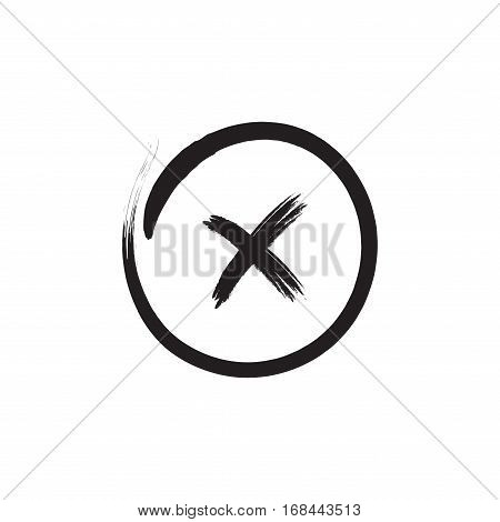 Cross Red Sign Element