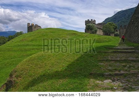 Way To Montebello Castle, Bellinzona, Switzerland