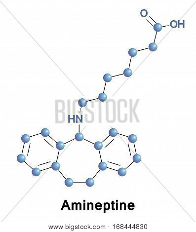 Amineptine was used as an atypical tricyclic antidepressant that selectively inhibits the reuptake of dopamine and to a lesser extent norepinephrine, in turn producing an antidepressant effect.