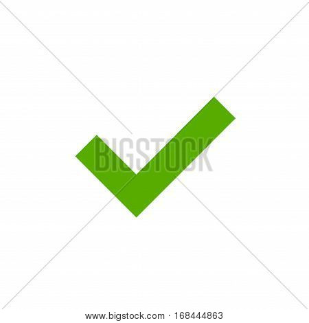 Tick Green Sign Element