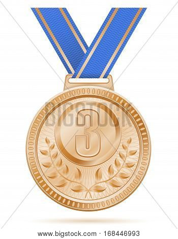 Medal Winner Sport Bronze Stock Vector Illustration