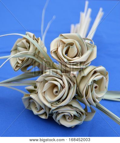 sweet grass flower bouquet dried Palmetto roses