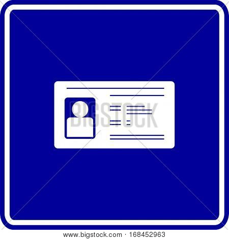 id card sign