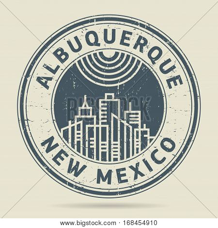 Grunge rubber stamp or label with text Albuquerque New Mexico written inside vector illustration