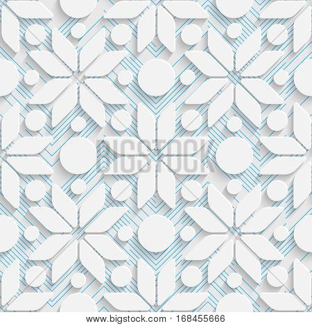 Seamless Star Pattern. Abstract Creative Background. Modern Swatch Wallpaper. 3d Sample Design. Wrapping Plexus Texture