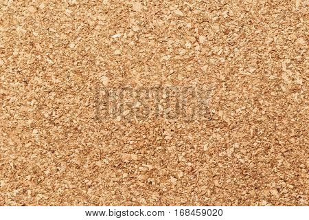 Natural beige cork texture background with place for text