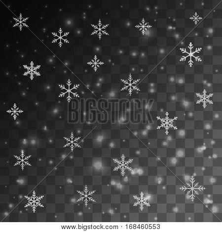 Snow glowing light effect illustration