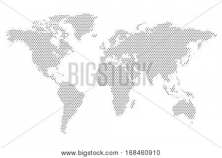 World Map Dot Pattern