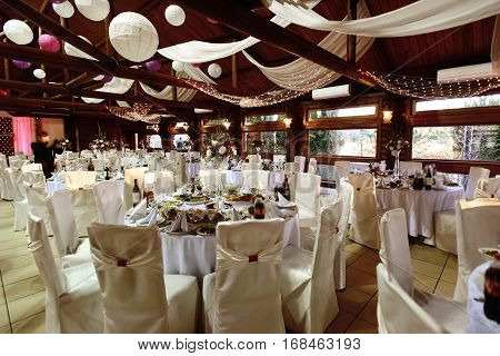 Amazing Luxury Decorated Place For Wedding Reception, Catering In Restaurant