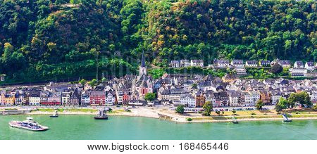 Travel in Germany - romantic cruises over Rhine river, Sankt Goar town