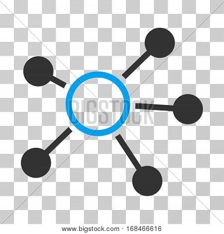 Connections icon. Vector illustration style is flat iconic bicolor symbol, blue and gray colors, transparent background. Designed for web and software interfaces.