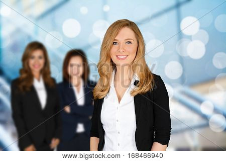 Group of businesswomen working together in the office