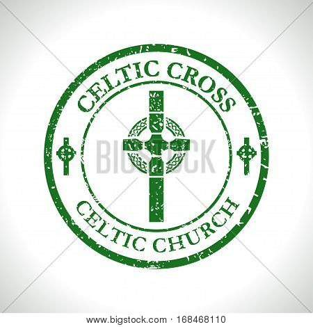 Illustration Celtic cross as a symbol of the Celtic church.