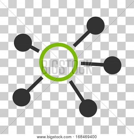 Connections icon. Vector illustration style is flat iconic bicolor symbol, eco green and gray colors, transparent background. Designed for web and software interfaces.