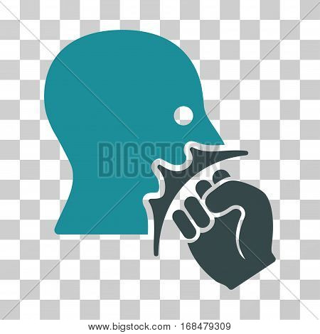 Face Violence Strike icon. Vector illustration style is flat iconic bicolor symbol, soft blue colors, transparent background. Designed for web and software interfaces.