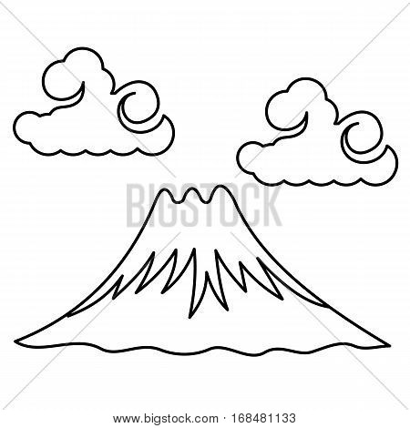 Vector Illustration The Sacred Mount Fuji
