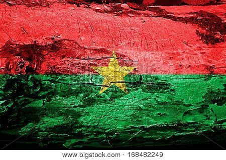 Burkina Faso flag with grunge texture