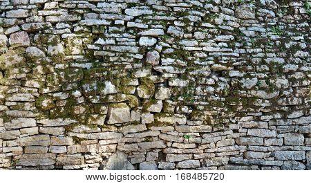 Moss stone wall background
