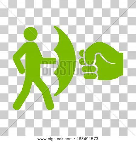 Crime Protection icon. Vector illustration style is flat iconic symbol, eco green color, transparent background. Designed for web and software interfaces.