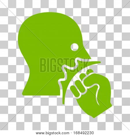 Face Violence Strike icon. Vector illustration style is flat iconic symbol, eco green color, transparent background. Designed for web and software interfaces.