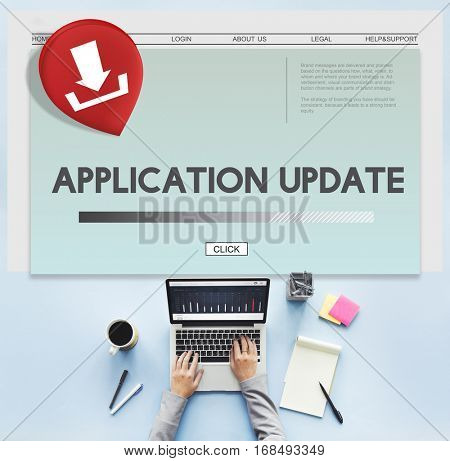 Application Update Download Concept