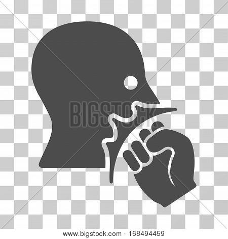 Face Violence Strike icon. Vector illustration style is flat iconic symbol, gray color, transparent background. Designed for web and software interfaces.
