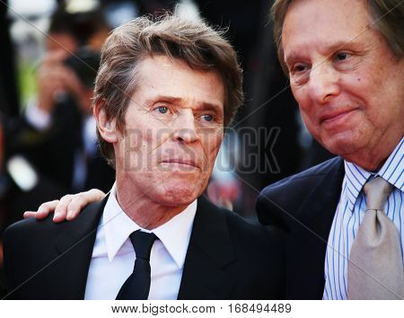 Willem Defoe, William Friedkin attend the 'Graduation (Bacalaureat)' Premiere during the 69th annual Cannes Film Festival at the Palais des Festivals on May 19, 2016 in Cannes, France.