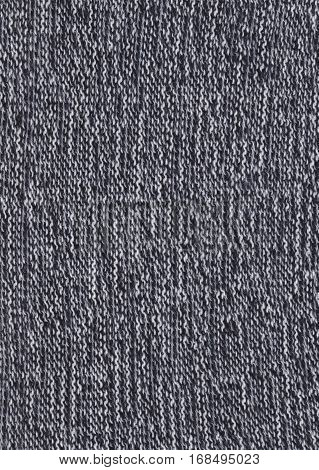 Warm Black And White  Knitted Fabric