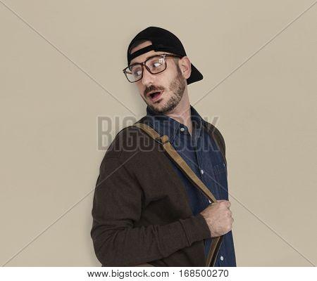 Caucasian Casual Man Snap Back
