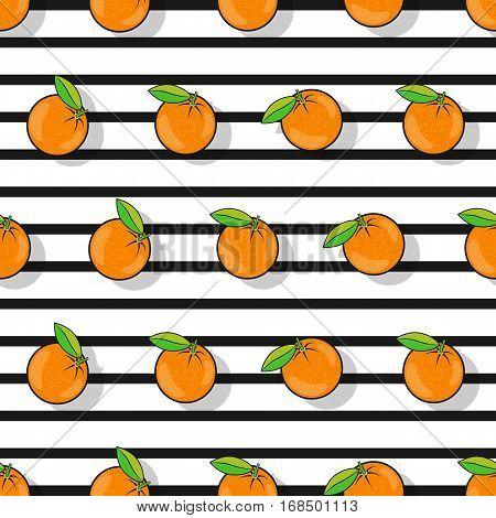 Orange Seamless Pattern In A Flat Style