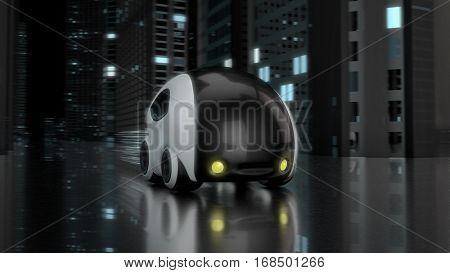 Futuristic car design - 3D Illustration